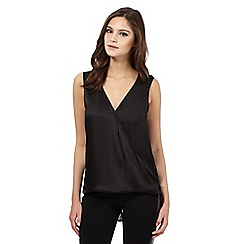 Lipsy - Black sleeveless back split top