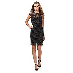 Lipsy - Black lace high neck dress