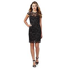 Lipsy - Black lace high neck dress