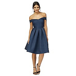 Chi Chi London - Navy 'Portia' knee length prom dress