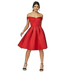 Chi Chi London - Red 'Jade' pleated dress