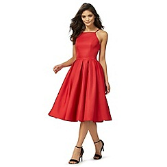 Chi Chi London - Red 'Amity' flared dress