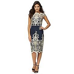 Chi Chi London - Navy 'Daliah' lace dress