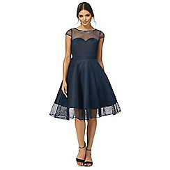 Chi Chi London - Navy 'Gianna' knee length prom dress