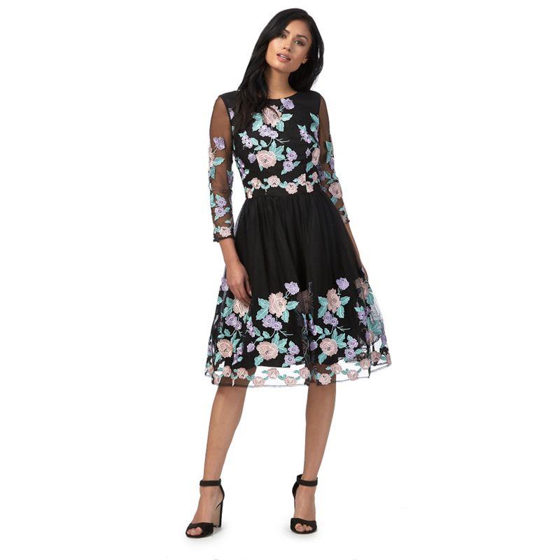 Chi Chi London Black caitlyn Dress, Womens, Size: 10,