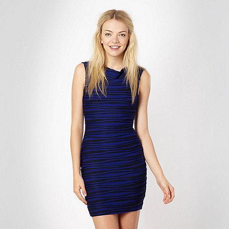 Lipsy - Bright blue wave ridge dress