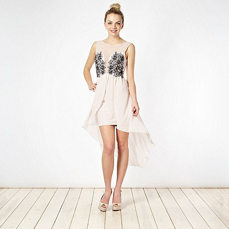 Lipsy - Light pink floral embroidered bodice party dress