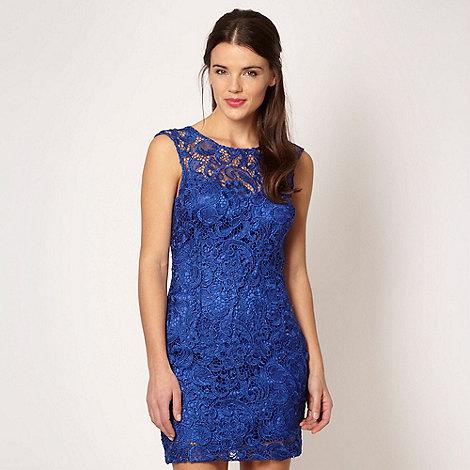 Lipsy - Bright blue lace shift dress