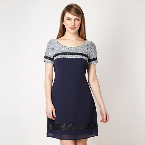 Lipsy - Navy beaded dress