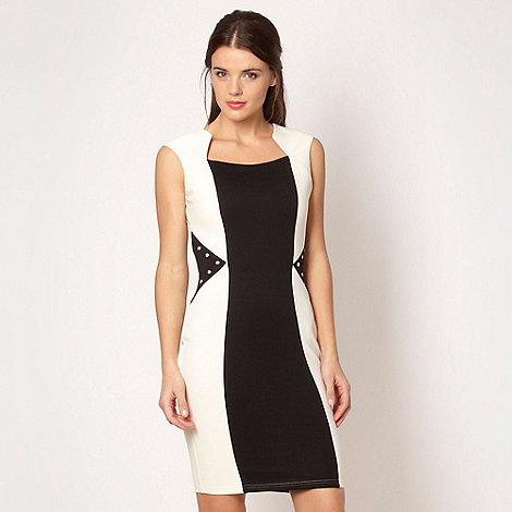 Lipsy - Cream colour block bodycon dress