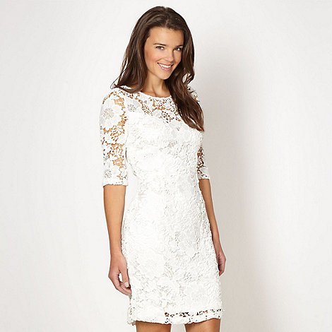 Lipsy - Cream floral lace dress