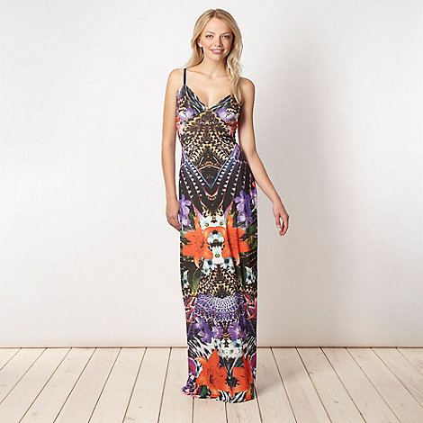 Lipsy - Black amazon print maxi dress