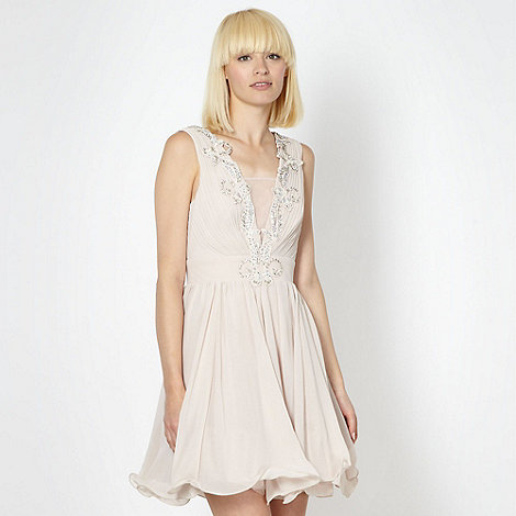 Lipsy - VIP light pink pleat front dress