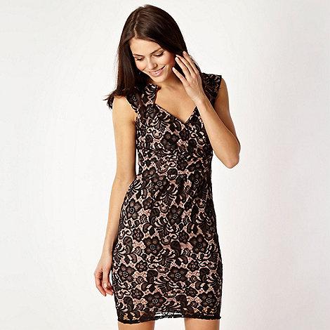 Lipsy - Black lace V neck dress