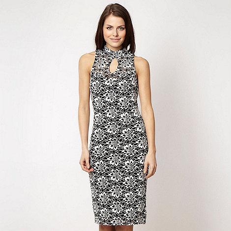 Lipsy - Black lace keyhole neck dress