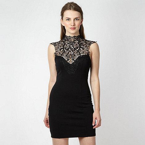 Lipsy - Black cutout lace dress