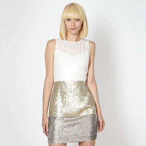 Lipsy - Cream graduated sequin dress