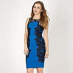 Lipsy - Bright blue lace side panel dress
