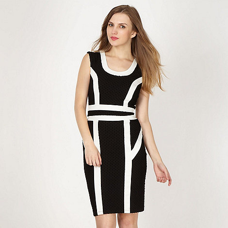 Lipsy - Black panelled jersey dress