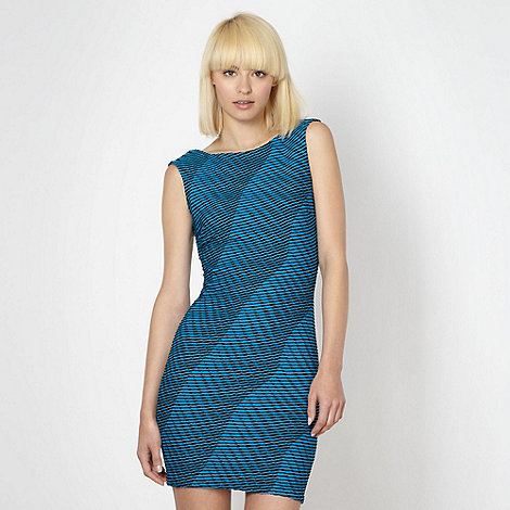 Lipsy - Blue textured jersey dress