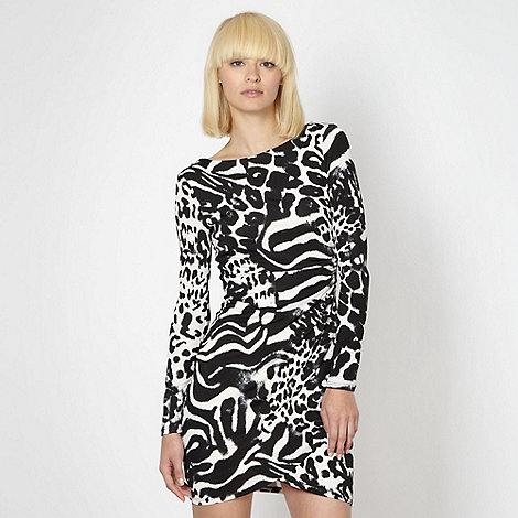 Lipsy - Black animal jersey dress