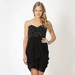 Lipsy - VIP black beaded bodice dress