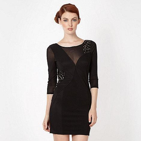 Lipsy - Black mesh panelled party dress