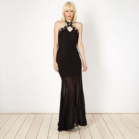 Lipsy - Black embellished strap maxi dress