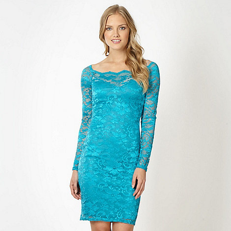 Lipsy - Turquoise lace dress