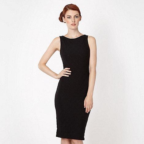 Lipsy - Black textured midi dress