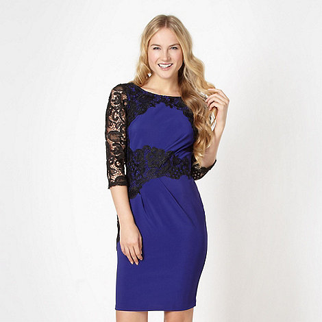 Lipsy - Purple lace sleeve dress