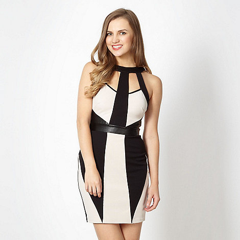 Lipsy - Black cut out panel dress