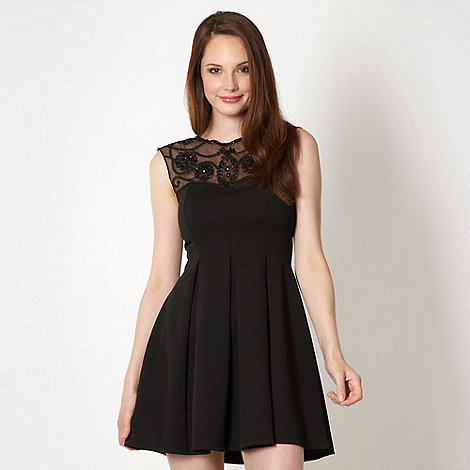 Lipsy - Black embellished insert dress