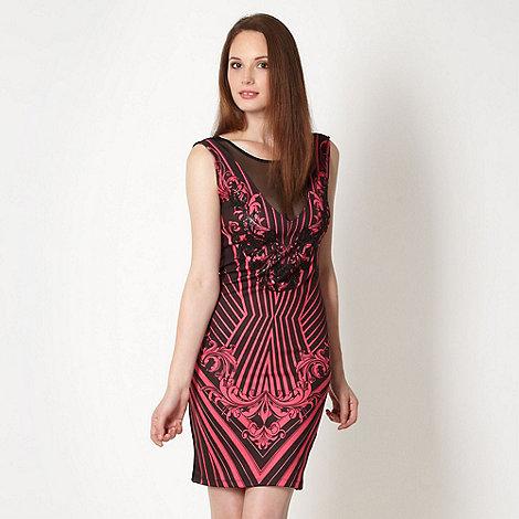 Lipsy - Black embellished linear scroll dress