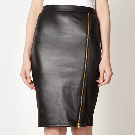 Lipsy - Black zip pencil skirt