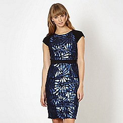 Lipsy - VIP blue sequin cut out dress