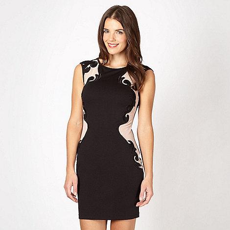 Lipsy - Black mesh bodycon sequin dress