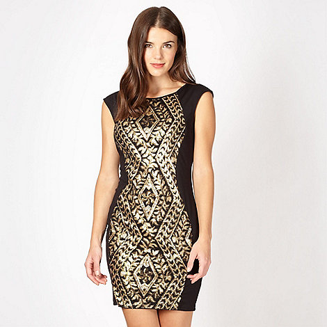 Lipsy - Black embellished panel dress