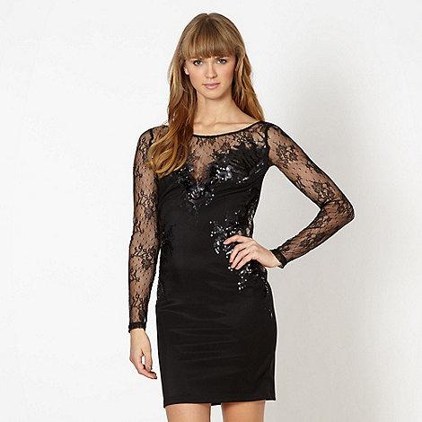 Lipsy - Black bodycon sequin dress