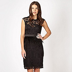 Lipsy - VIP black feather waist dress