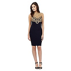 Lipsy - Navy lace bodycon dress