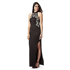 Lipsy - Black cutout mesh maxi dress