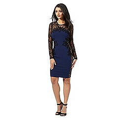 Lipsy - Blue cornelli trimmed dress