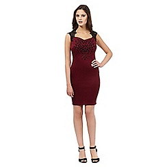 Lipsy - Dark red heart dress