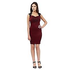 Lipsy - Dark red heart dress