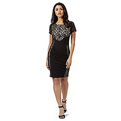 Lipsy - Black lace cutout dress