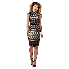 Lipsy - Black fleur de lis lace dress