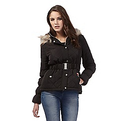 Lipsy - Michelle Keegan loves Lipsy black short quilted jacket