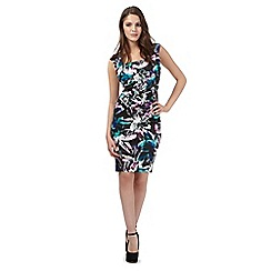 Lipsy - Green floral scuba dress