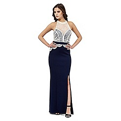 Lipsy - Navy lace maxi dress